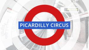 Picardilly Circus zum Start von Star Trek Picard mit Patrick Stewart