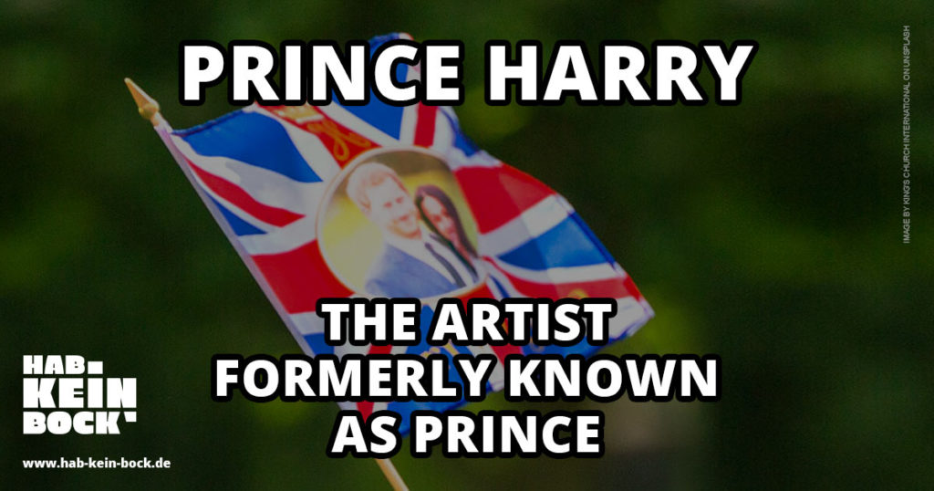 The Artist Formerly Known As Prince Harry Meme Megxit