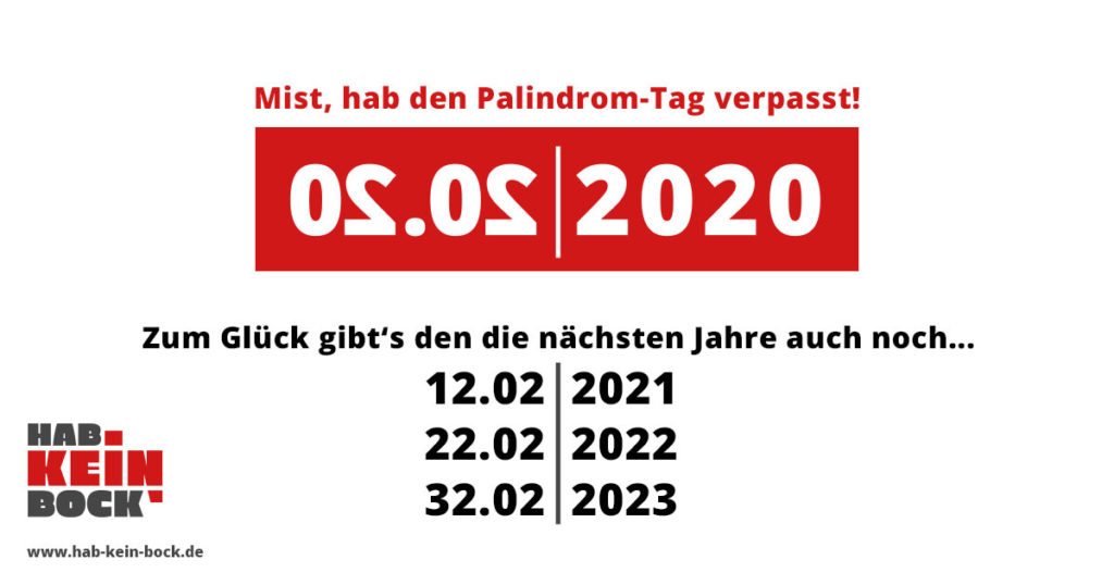 02.02.2020 Palindrome-Day Meme
