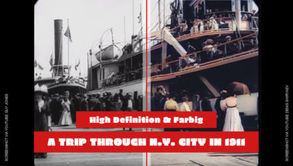 1911 - A Trip Through New York City (4K High Definition und Colored Video)