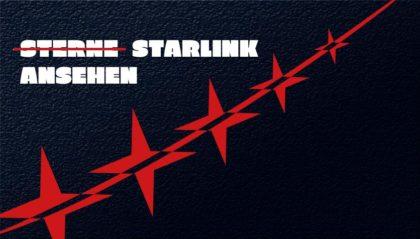Starlink-Satelliten von Elon Musks SpaceX am Nachthimmel über Deutschland sichtbar mithilfe findstarlink.com