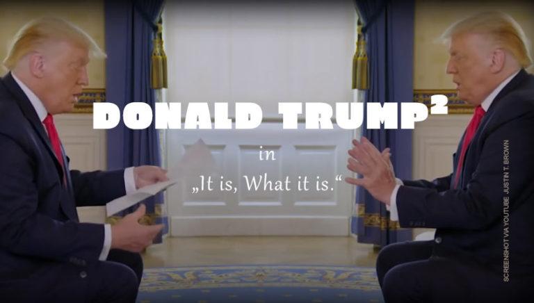 Donald Trump widerspricht sich selbst (AXIOS-Interview mit Jonathan Swan von YouTuber Justin T. Brown neu geschnitten)