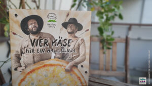 Bud Spencer & Terence Hill Pizza von Gustavo Gusto (Bild via YouTube FoodLoaf)