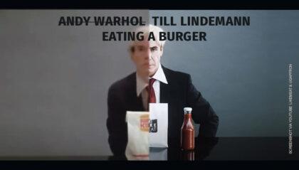 Till Lindemann (Rammstein) isst LikeMeat-Pflanzenburger zum Veganuary